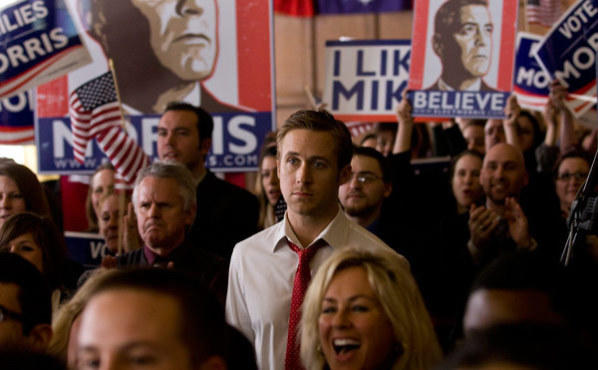 Ryan Gosling, center, in The Ides of March