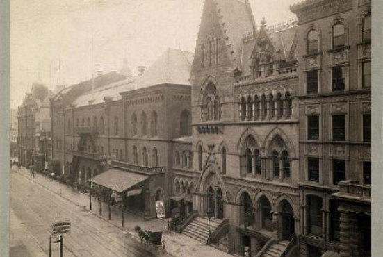 Brooklyn Academy of Music, Montague Street, ca.1895, v1972.1.781
