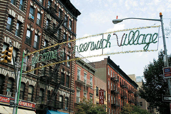 Welcome to greenwich village sign things to do for Things to do in nyc next weekend