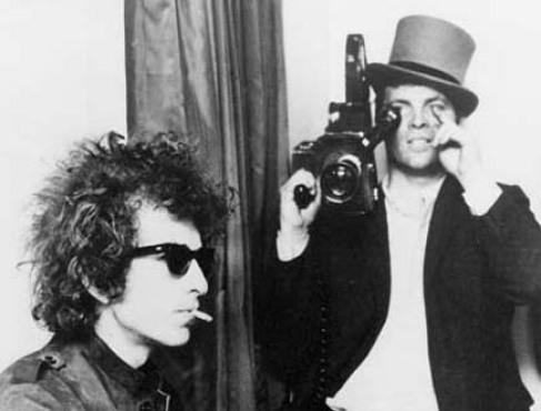 Pennebaker, right, captures Dylan for Don't Look Back.