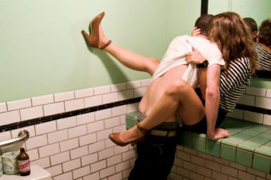 Sex in a public bathroom