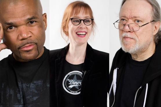From left: D.M.C., Suzanne Vega, Tommy Ramone