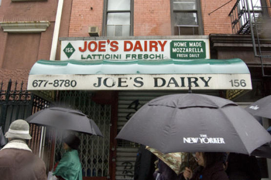 Where we would have eaten smoked mozzarella had it been open: Joe's Dairy.