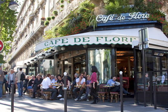 Caf de flore 172 boulevard saint germain 6e bars and for Photo de terrasse