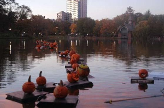 Halloween Parade and Pumpkin Sail in Central Park