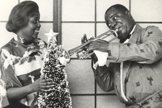 Lucille and Louis Armstrong