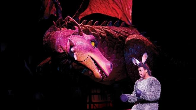 Richard Blackwood as Donkey in Shrek The Musical at Theatre.jpg