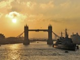Tower Bridge sunset, London