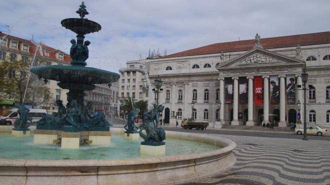 Rossio Square in Lisbon has been in existence since the Middle Ages