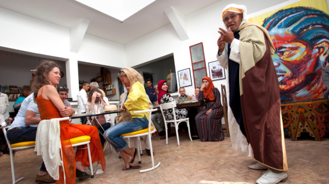 Café Clock, a popular bar and arts venue in Marrakech