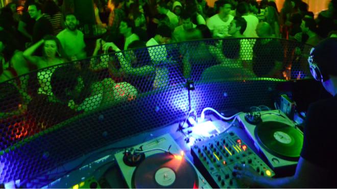 The glitzy 00 club in Rio de Janeiro, Brazil