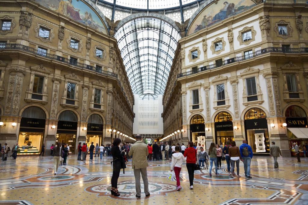 the Galleria Vittorio Emanuele II, Milan, Italy