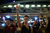 Occupy Central protesters in Hong Kong, October 2014