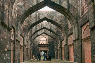 The main durbar hall of Hindola Mahal, Mandu, India