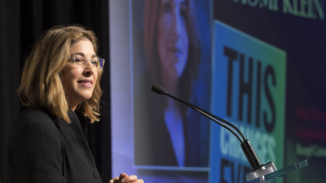 Naomi Klein, author of This Changes Everything: Capitalism vs the Climate