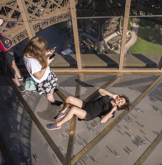 Effeil Tower glass floor, Paris