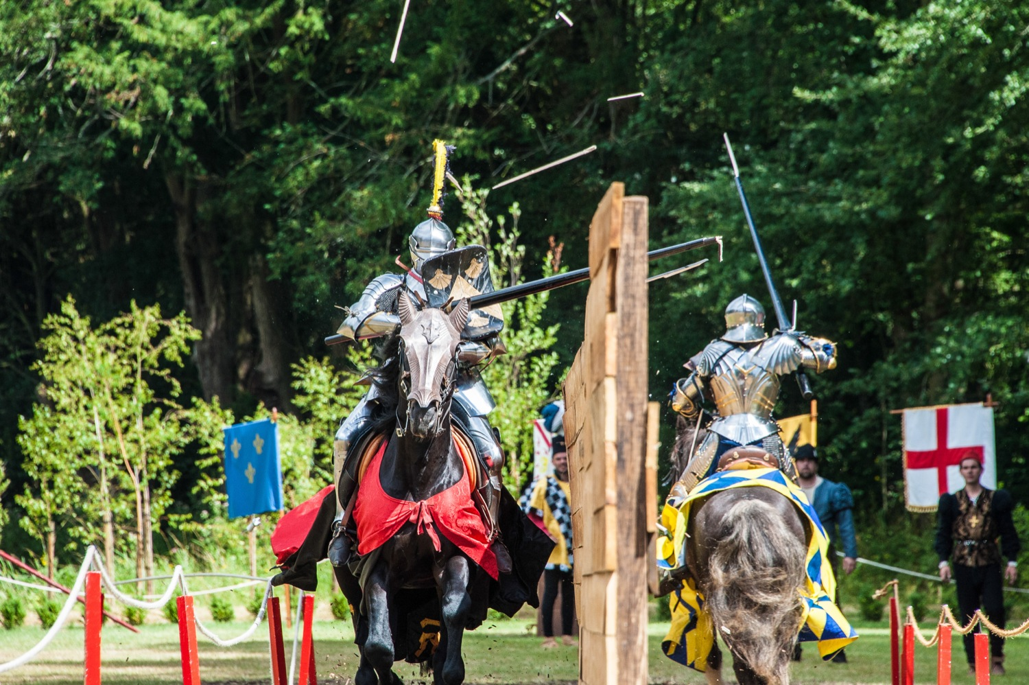 Sunday 28th July 2013 England win the Joust at the International tournament at Arundel Castle, Arundel, West Sussex, UK