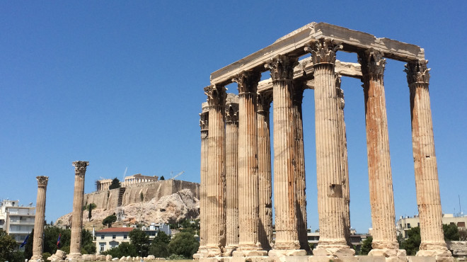 Temple of Olympian Zeus to the Parthenon