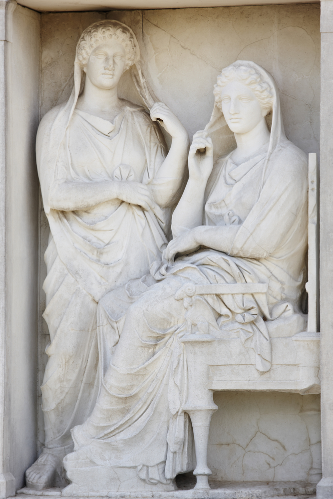 Stele of Demetria and Pamphile, Keramikos cemetery, Athens